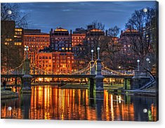 Boston Public Garden Lagoon Acrylic Print