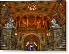 Boston Public Library Interior Acrylic Print