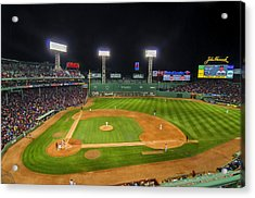 Boston Red Sox And New York Yankees At Fenway Park - Art Acrylic Print