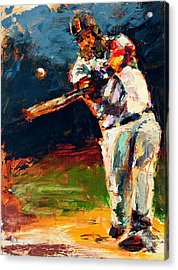 Boston Red Sox Beard Mike Napoli Acrylic Print by Derek Russell
