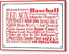 Boston Red Sox Game Day Food 3 Acrylic Print