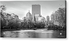 Boston Sky From Public Garden Acrylic Print