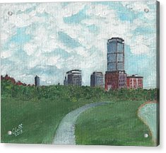 Boston Skyline 1968 Acrylic Print by Cliff Wilson