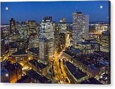 Boston Skyline At Night From The Sw Acrylic Print