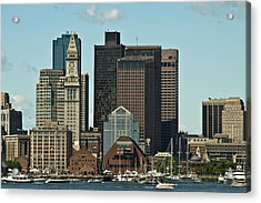 Acrylic Print featuring the photograph Boston Skyline by Caroline Stella
