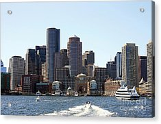 Boston Skyline Acrylic Print by David Gardener