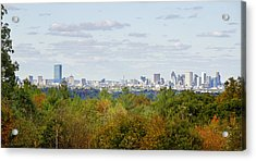 Boston Skyline In Autumn Acrylic Print