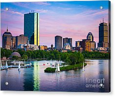 Boston Skyline Acrylic Print by Inge Johnsson