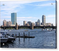 Boston Skyline Acrylic Print by Jason Clinkscales