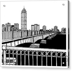 Boston Skyline Mass Ave Acrylic Print