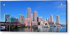 Boston Skyline Over Water Acrylic Print