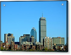 Acrylic Print featuring the photograph Boston Skyline Prudential Tower by Amanda Vouglas