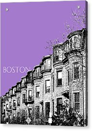 Boston South End - Violet Acrylic Print by DB Artist