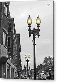 Acrylic Print featuring the photograph Boston Streetlamps by Cheryl Del Toro