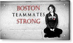 Boston Strong Acrylic Print by Greg Fortier