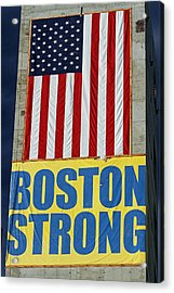Boston Strong Acrylic Print by Juergen Roth
