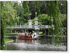 Boston Swan Boat Acrylic Print
