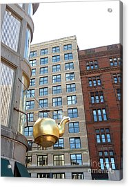 Acrylic Print featuring the photograph Boston Teapot - Color by Cheryl Del Toro