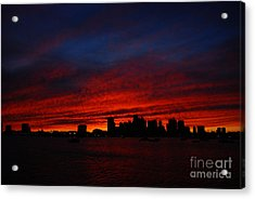 Boston Twilight Acrylic Print