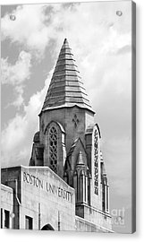 Boston University Tower Acrylic Print by University Icons