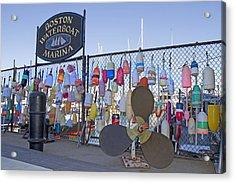 Boston Waterboat Marina Buoys  Acrylic Print by Betsy Knapp
