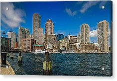 Boston Waterfront Skyline Acrylic Print