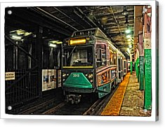 Boston's Mbta Green Line Acrylic Print