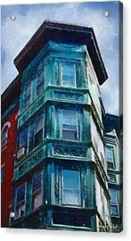 Boston's North End Acrylic Print by Jeff Kolker
