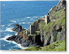 Botallack Crown Engine Houses Cornwall Acrylic Print by Terri Waters