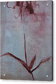Acrylic Print featuring the painting Botanical Flowers by Jani Freimann