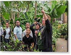 Botanical Greenhouse School Trip Acrylic Print