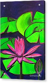Botanical Lotus 1 Acrylic Print by Grace Liberator
