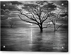 Botany Bay Sunrise 6 Black And White Acrylic Print
