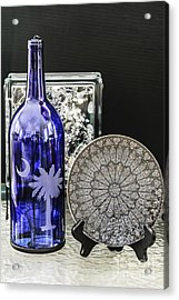 Bottle And Plate Acrylic Print