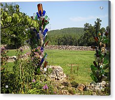 Acrylic Print featuring the photograph Bottle Bushes by Mark McReynolds