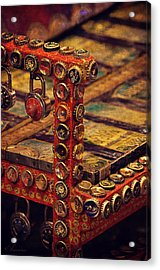Bottle Caps Chair Acrylic Print by Maria Angelica Maira
