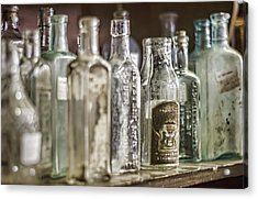 Bottle Collection Acrylic Print by Heather Applegate