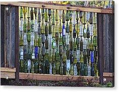 Bottle Fence Acrylic Print