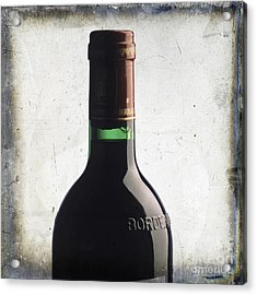 Bottle Of Bordeaux Acrylic Print by Bernard Jaubert