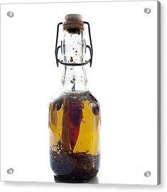 Bottle Of Oil Acrylic Print by Bernard Jaubert
