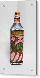 Bottle Painting  Acrylic Print