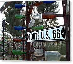 Bottle Trees Route 66 Acrylic Print by Glenn McCarthy Art and Photography