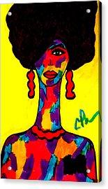 Bottlenecked Diva Acrylic Print by Chrissy Pena