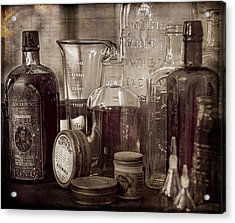 Bottles And Tins Acrylic Print