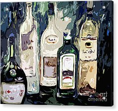 Bottles By Ginette Acrylic Print