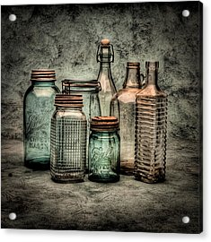Bottles II Acrylic Print by Timothy Bischoff