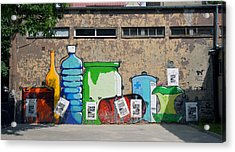 Bottles  Acrylic Print by Kees Colijn