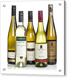 Bottles Of New Zealand Wine Acrylic Print by Colin and Linda McKie