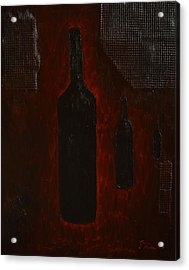 Acrylic Print featuring the painting Bottles by Shawn Marlow