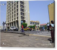 Bottom Up Sierra Leone Commercial Bank Acrylic Print by Mudiama Kammoh